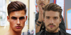 The round face shape hair cut style for men